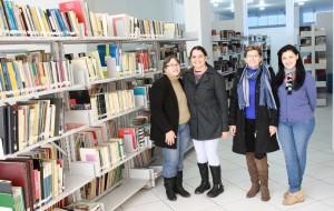 Izelde, Tássia, Rosa e Eliane trabalham há mais de 40 dias na organização do espaço