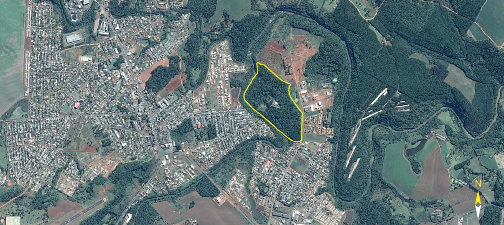 Área do Parque Ambiental Irmão Cirilo e seu entorno