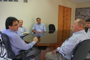 Tulio foi recebido no gabinete e estava acompanhado pelos filhos 'Tulinho' e Rodrigo e o amigo Fabiano
