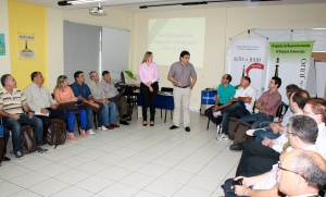 Jocelei Fiorentin e Cantelmo Neto durante encontro com empresários de Campo Grande que vieram conhecer o projeto do Alto da Julio desenvolvido em Beltrão