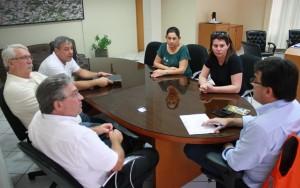 Uma das reuniões foi com representantes da Nova Concórdia