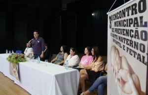 Prefeito Cantelmo Neto faz a abertura de evento com profissionais da saúde para debater a redução da mortalidade infantil