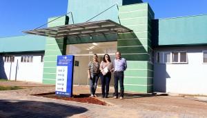 Dalva Zago, Rose Mari Guarda e Gervásio Kramer vistoriaram todas as 11 unidades de saúde em construção em Beltrão; a UBS do Cantelmo (foto) é uma das mais adiantadas