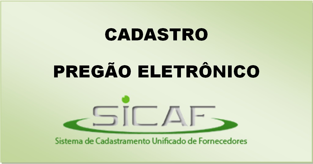 Cadastro - SICAF