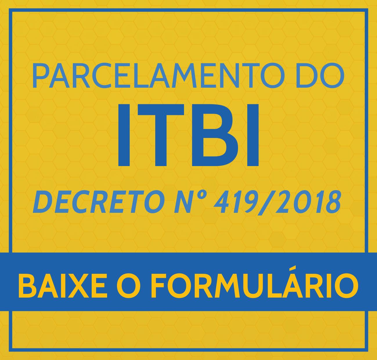 PARCELAMENTO DO ITBI