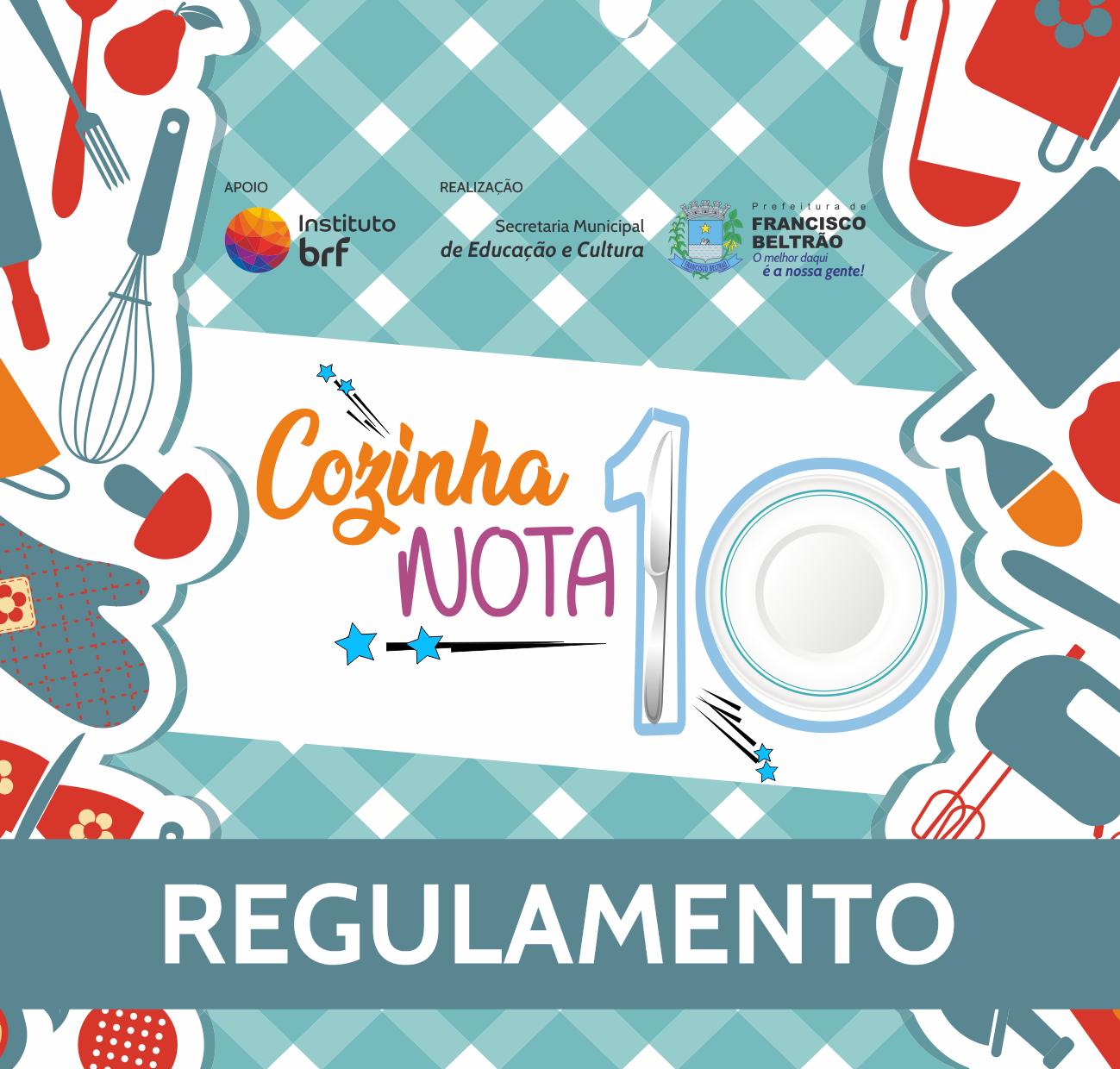 COZINHA NOTA 10 - BANNER REGULAMENTO