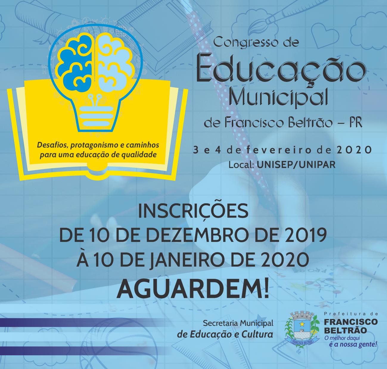 CONGRESSO EDUCAÇÃO - AGUARDEM - POPUP