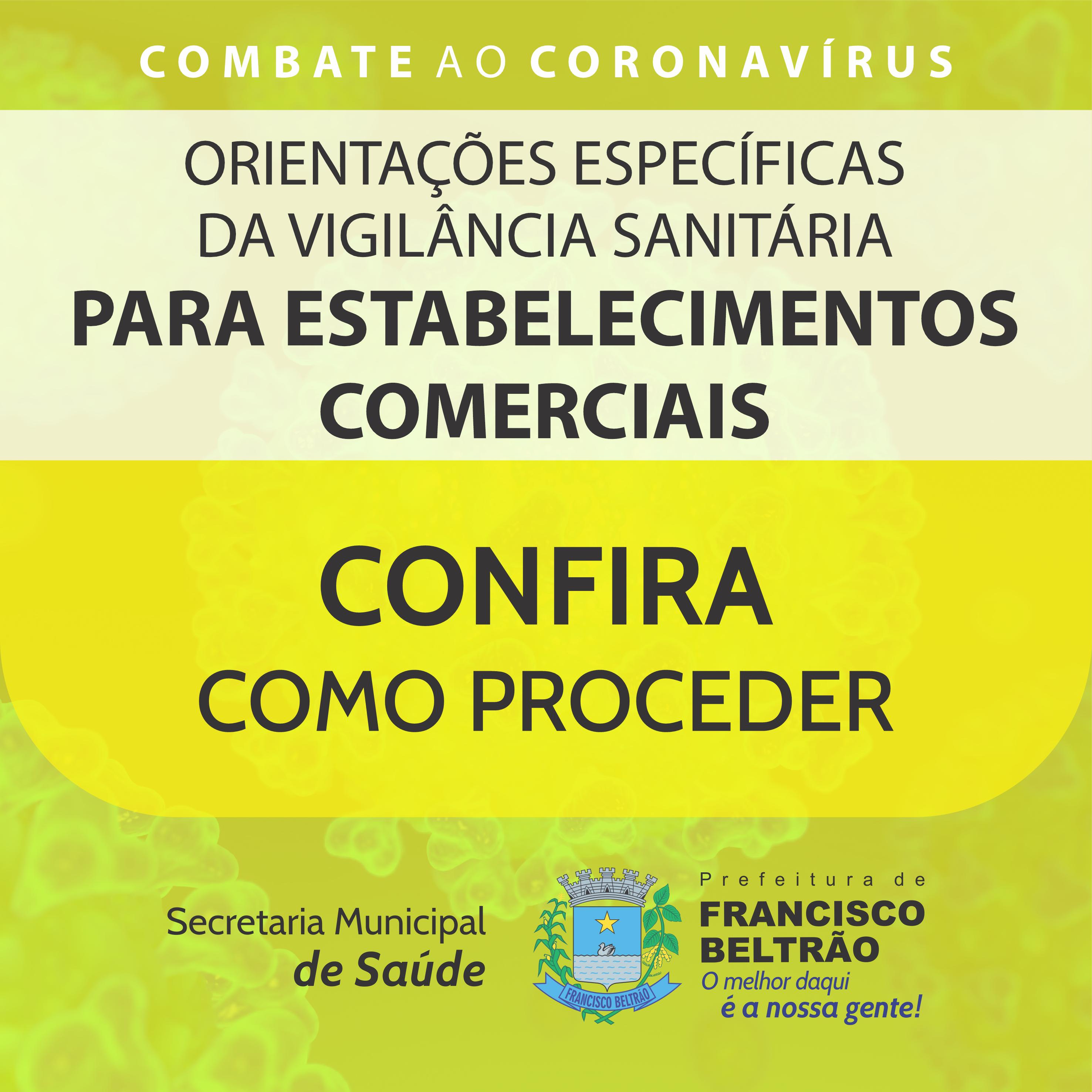 ORIENTAÇÕES ESPECÍFICAS ESTABELECIMENTOS COMERCIAIS