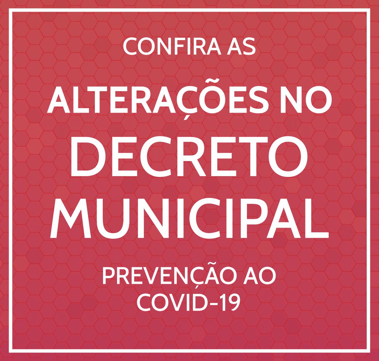 ALTERAÇÕES DECRETO MUNICIPAL