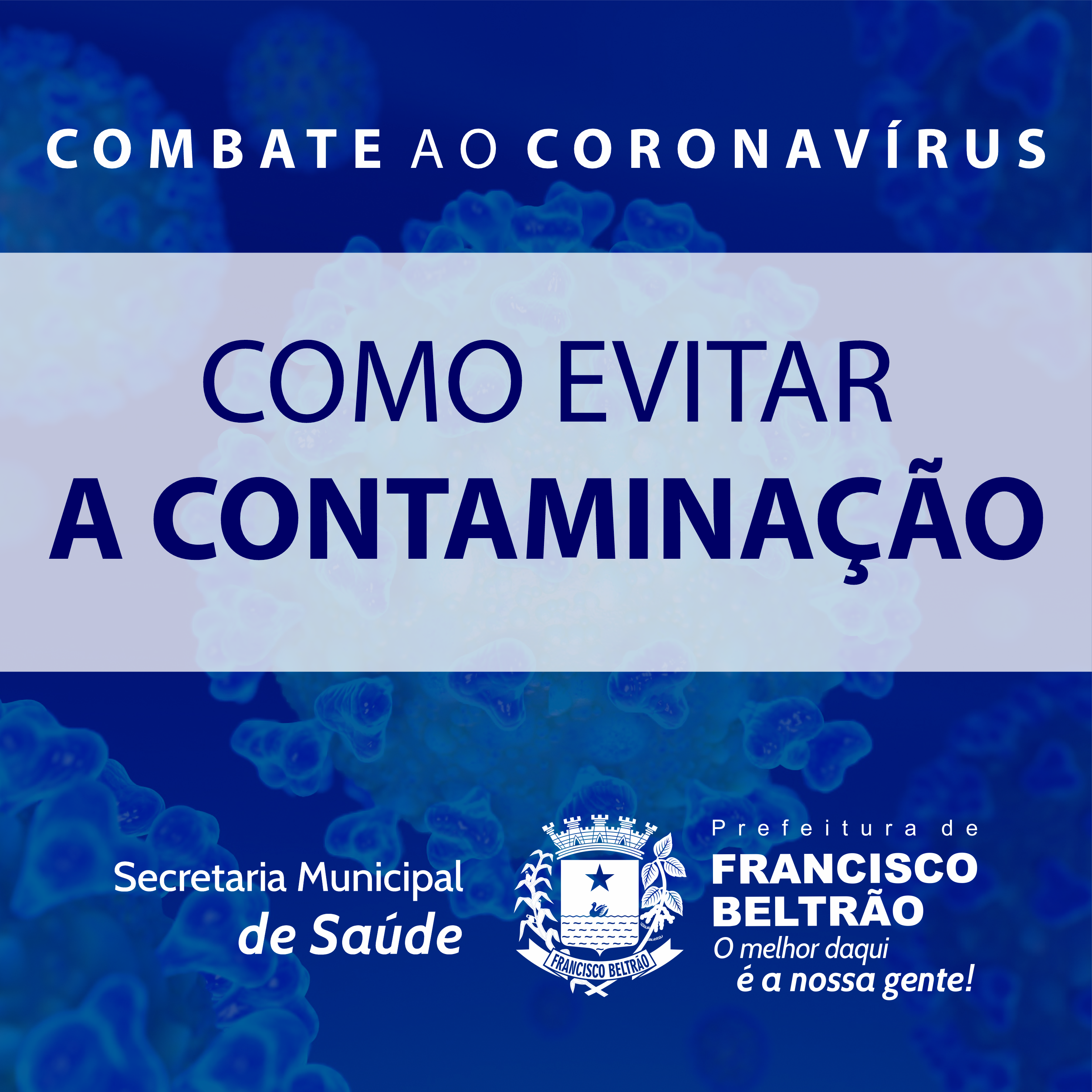 COMO EVITAR A CONTAMINAÇÃO