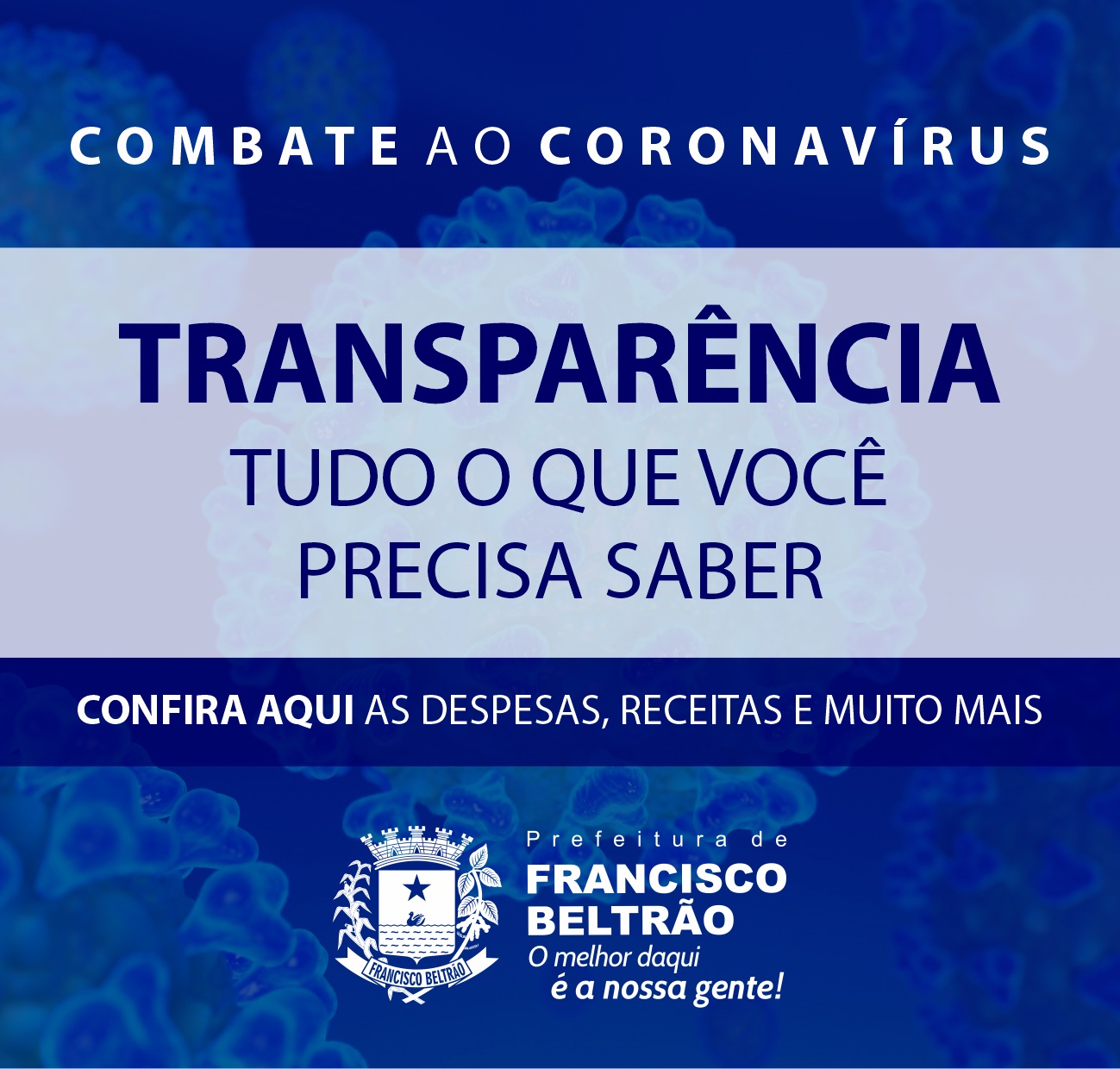 COMBATE AO CORONAVÍRUS - TRANSPARÊNCIA